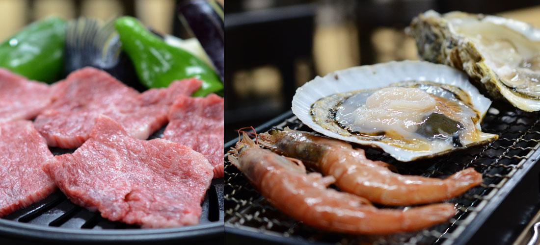 焼き台(魚菜広場)